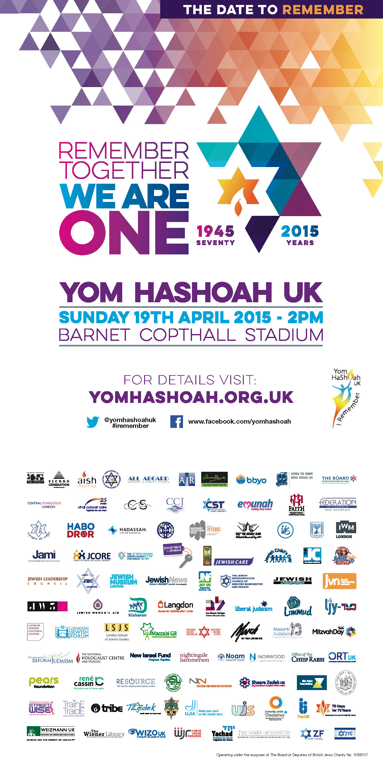 National Yom HaShoah CommemorationNational Yom HaShoah Commemoration 'Remember Together - We Are One'